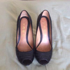 L.A.M.B. black heels size 7.5